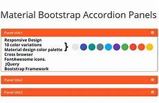 Material Design Accordion Material Bootstrap Accordion Panels Infographic Design