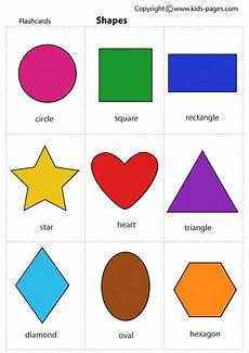 Shape Chart For Toddlers Shapes Flashcard Printable Shapes Shapes Preschool
