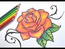 desenhando uma rosa passo a passo