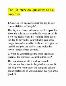 Questions To Ask At A Job Fair Top 10 Interview Questions To Ask Employer
