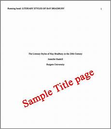 Title Examples Lesson 7 Title Page Amp Abstract