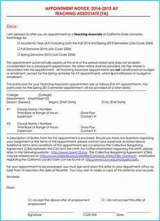 Letter Sample For Teacher Teacher Appointment Letter Templates 7 Samples In Word Pdf