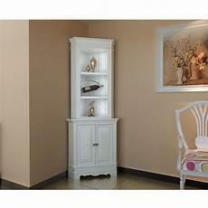 corner display cabinet wooden shelf shabby chic unit white