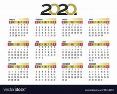 images for calendar 2020 wall calendar 2020 royalty free vector image vectorstock