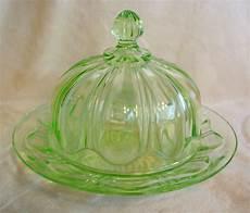 Light Green Vintage Glassware Vintage Light Green Depression Glass Covered By Lazycatdesignz