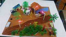 How To Create A Science Project Simple Village Model School Project Science Projects