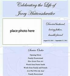Free Printable Memorial Templates 39 Funeral Program Templates Pdf Psd Docs Free