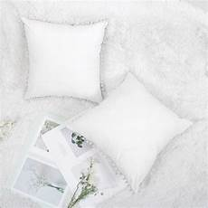 set of 2 square decorative throw pillow cover with pom