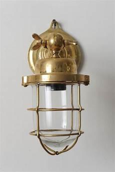 Antique Ship Lights Pair Of Nautical Antique Ship Passageway Lights In Brass