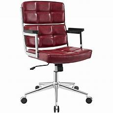 Warmiehomy Office Chair Swivel Faux Leather Armchair Height Adjustable by Modern Faux Leather Swivel Adjustable Highback