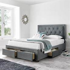 woodbury grey fabric 4 drawer storage bed frame 5ft king