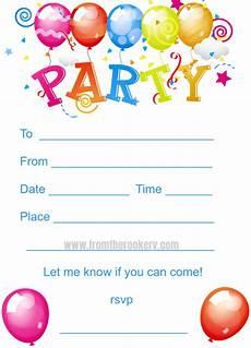 Free Printable Kids Birthday Invitations Kids Birthday Party Invites