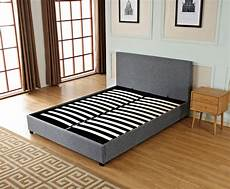 ottoman storage gas lift up king size fabric bed