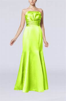 lime green clothes lime green evening dress simple strapless satin floor