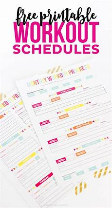 Printable Work Schedules Workout Calendar Free Printable Schedule Progress Sheets