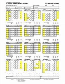 Work Shift Calendar Template 13 Employee Calendar Templates Free Samples Examples