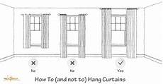 How To Hang Curtain Rods Design Tips Tricks 4 How To Hang Curtains A Space