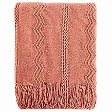bourina coral throw blanket textured solid