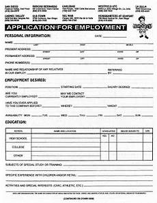 Mock Application Form 18 Printable Mock Job Application For Students Forms And