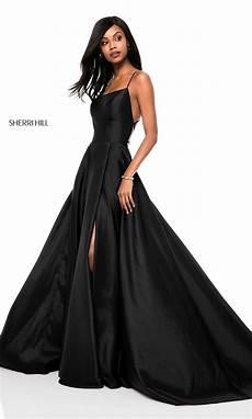 sherri hill open back prom dress promgirl