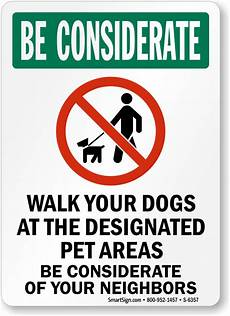 Dog Walking Sign Designated Pet Area Signs Dog Area Signs From 5