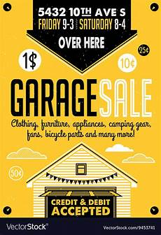 Garage Sale Poster Ideas Garage Sale Poster Vector By Moloko88 Image 9453741