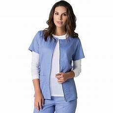 sleeve scrub jacket sporty sleeve zip front solid scrub jacket sharas