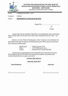 permohonan mtq menjadi dewan hakim