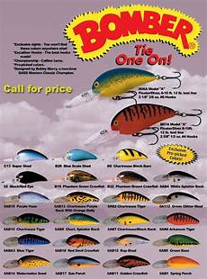 Bomber Long A Color Chart Bomber Model A 2005 Pro Picked Color Chart Fishing