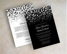 White On White Wedding Invitations Black And White Polka Dot Wedding Invitation Modern Polka