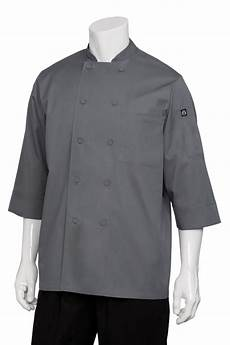 chef coat sleeve three quarter sleeve chef coat gray chef works