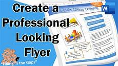 Programs To Make Flyers Create A Professional Looking Flyer In Microsoft Word