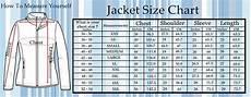 Mens Jacket Size Chart Size Charts Super Hero Jackets Movies Jackets Fashion