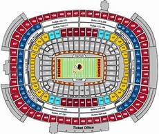 Washington Redskins Seating Chart Fedex Field Nfl Football Stadiums Washington Redskins Stadium