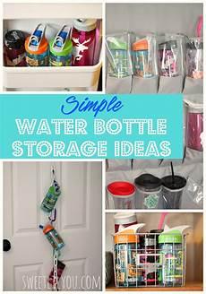 simple water bottle storage ideas sweet lil you