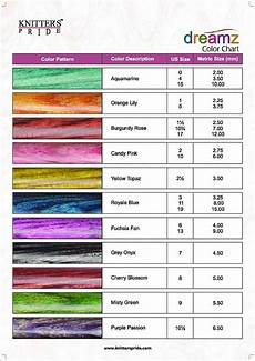 Knitting Color Chart Dreamz Color Chart Knitters Pride Wood Crochet Hook