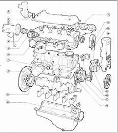 Engine Complete Dismantling Cvh Engines Ford Escort