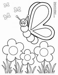 silly butterfly coloring page