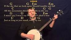 Stand In The Light Lyrics Stand By Me Ben E King Easy Banjo In G Cover Lesson With