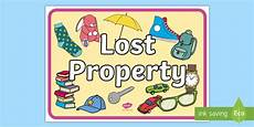 Lost And Found Sign Lost Property Display Poster Teacher Made