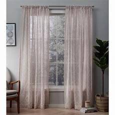 Curtain Images Cali 50 In W X 84 In L Sheer Rod Pocket Top Curtain