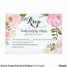 Online Rsvp Cards Modern Vintage Pink Floral Wedding Online Rsvp Zazzle