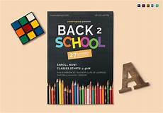Back To School Flyer Templates Back To School Flyer Design Template In Psd Word