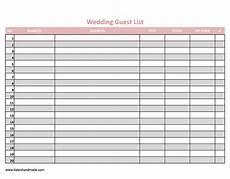 Free Wedding Guest List Template 35 Beautiful Wedding Guest List Amp Itinerary Templates
