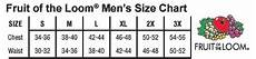 Fruit Of The Loom Size Chart Fruit Of The Loom Men S V Neck T Shirts