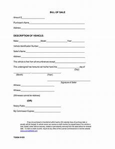 Bill Of Sale Car Template Printable Sample Car Bill Of Sale Form Laywers Template