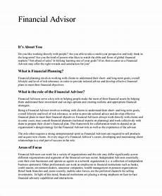Financial Advisor Description Free 7 Sample Financial Advisor Job Description Templates