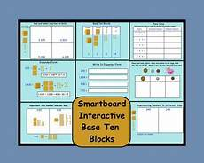 Interactive Place Value Chart Smartboard Place Values Place Value Chart And Base Ten Blocks On
