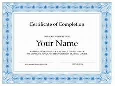 Training Certificate Of Completion 20 Free Certificate Of Completion Template Word Excel Pdf