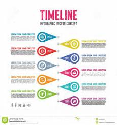 Cool Timeline Projects Infographic Vector Concept In Flat Design Style Timeline